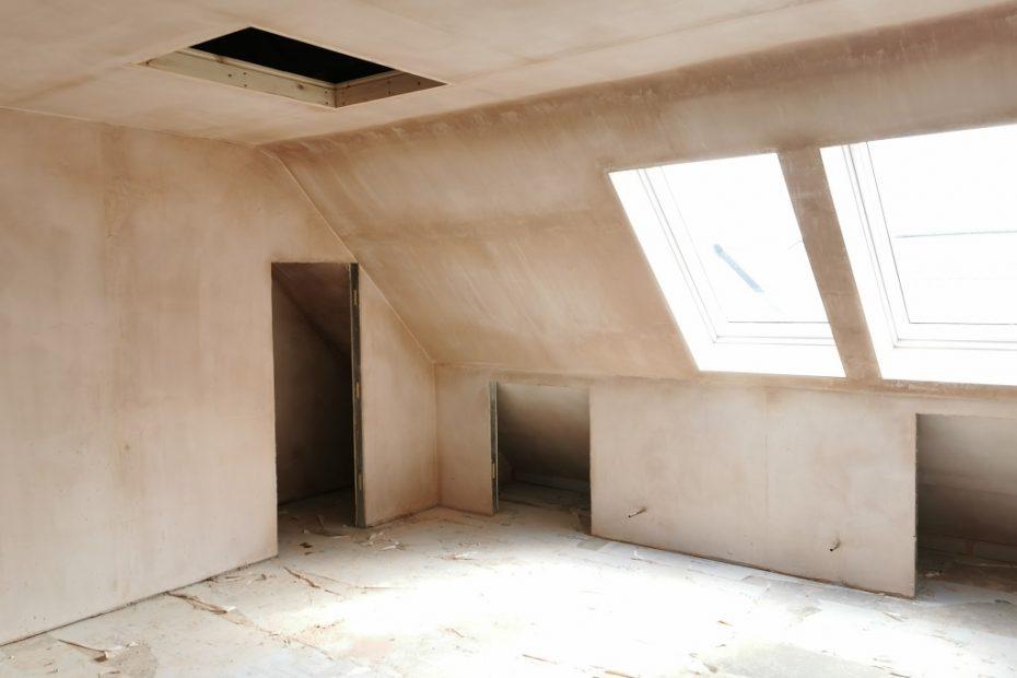 Image showing plastering at Oxford Road, Kingston Bagpuize